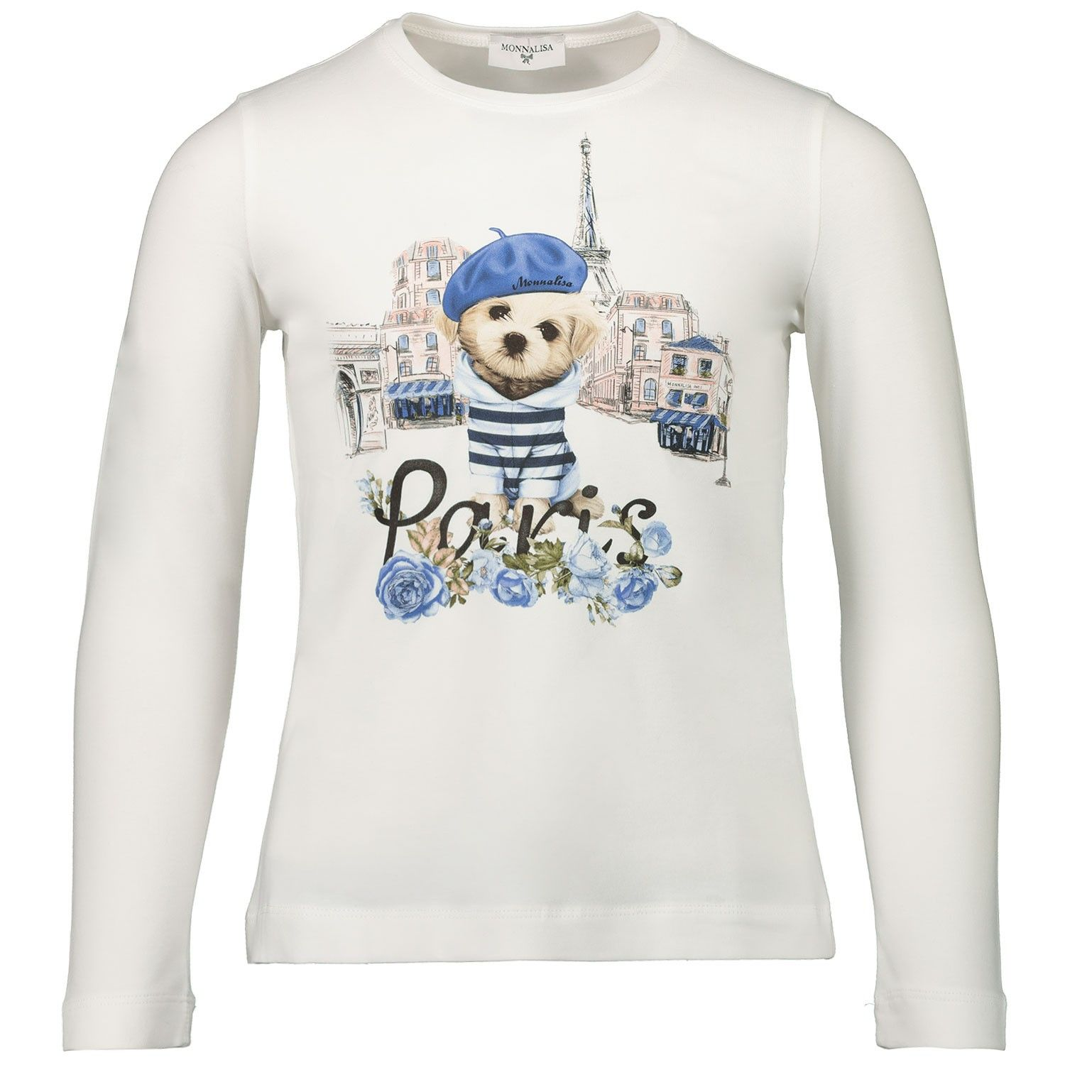 Picture of MonnaLisa 116601S7 kids t-shirt off white