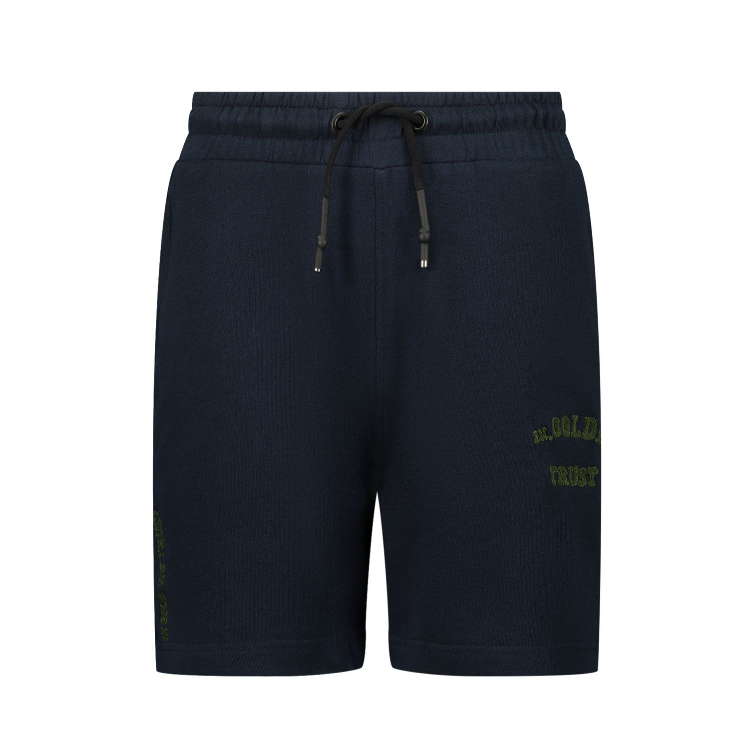 Picture of in Gold We Trust CHAIN EMBROIDERY SHORT kids shorts blue