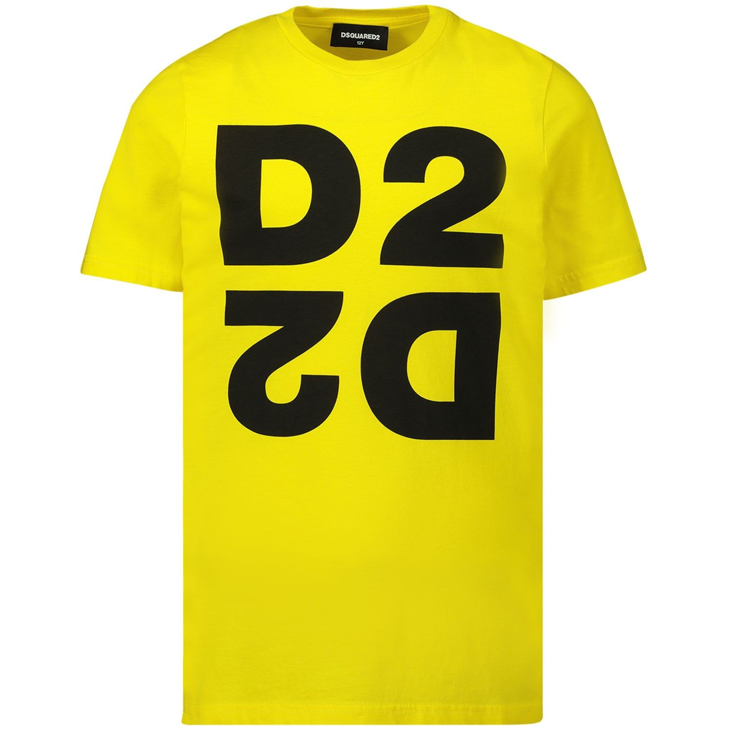 Picture of Dsquared2 DQ03WI kids t-shirt yellow