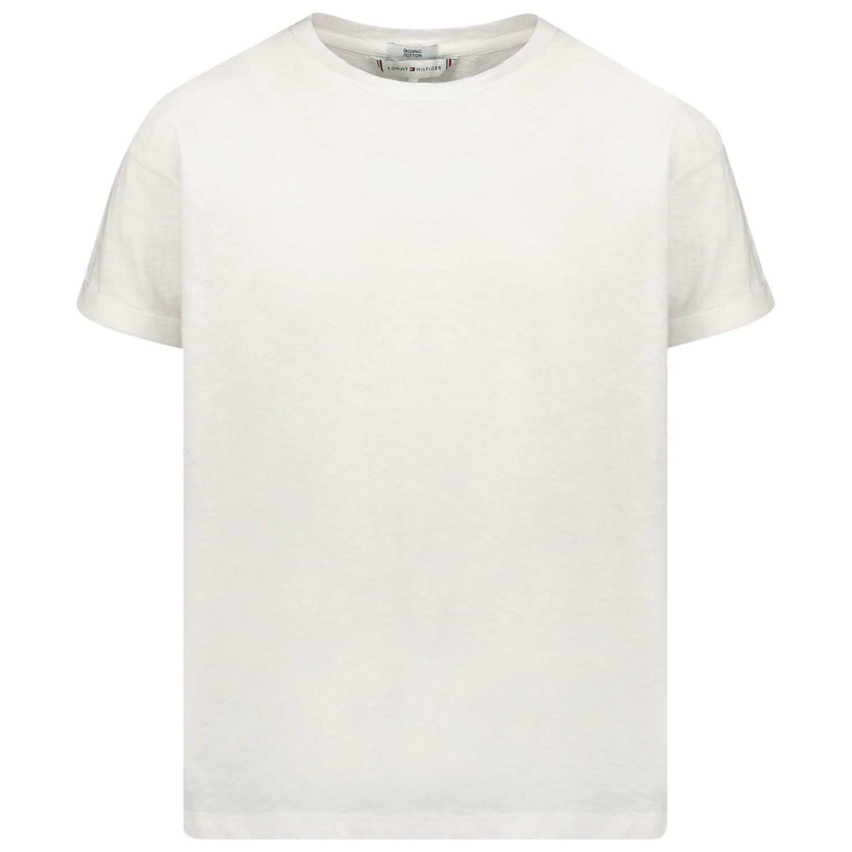 Afbeelding van Tommy Hilfiger KG0KG05029 kinder t-shirt wit