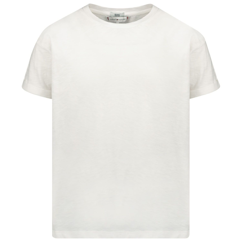 Picture of Tommy Hilfiger KG0KG05029 kids t-shirt white