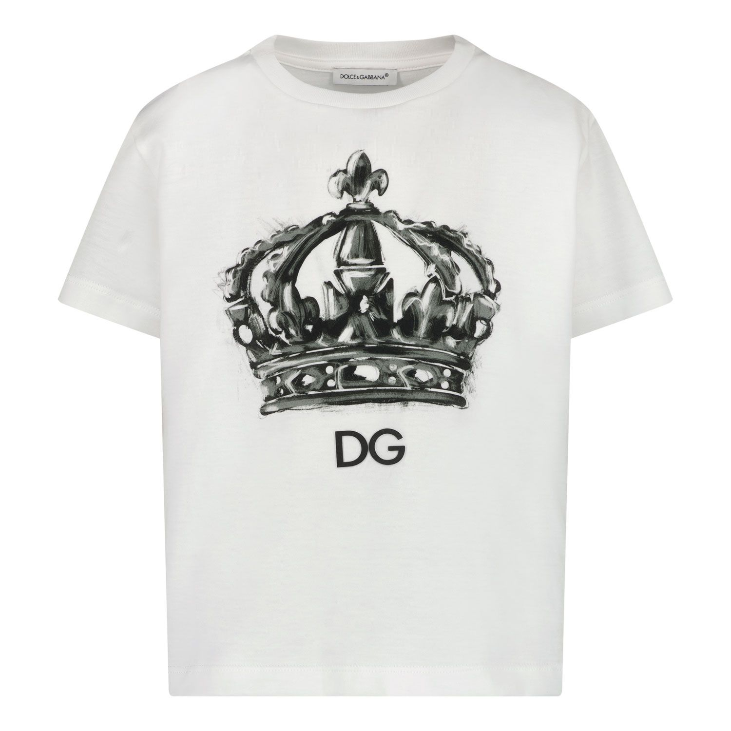 Picture of Dolce & Gabbana L4JTBL G7XPA kids t-shirt white