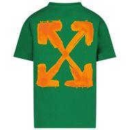Afbeelding van Off-White JER0075520 kinder t-shirt groen