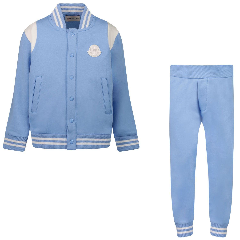 Bild von Moncler 8M77620 Baby-Trainingsanzug Hellblau