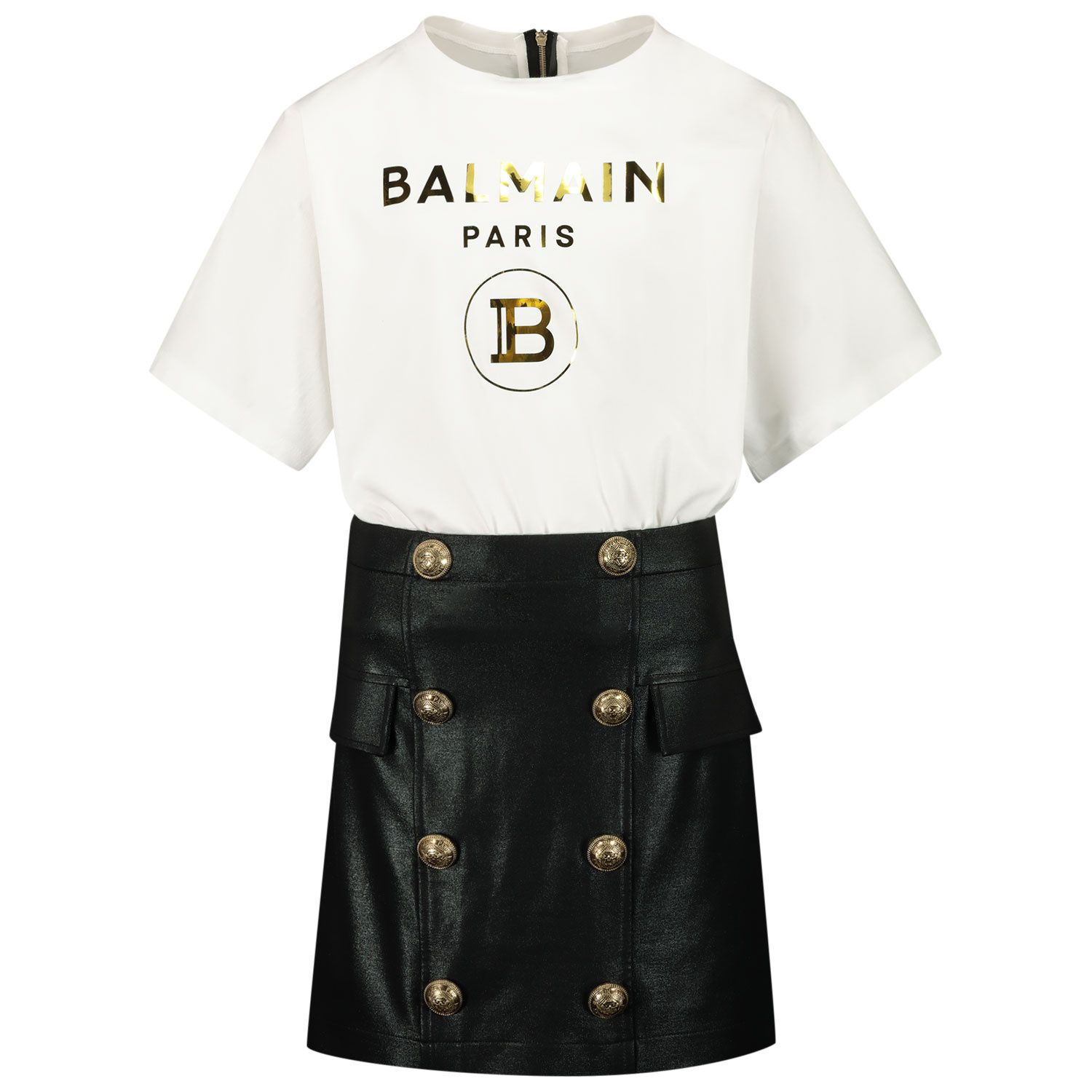 Picture of Balmain 6O1171 kids dress white