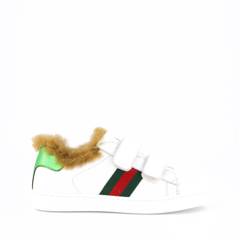 Afbeelding van Gucci 526162 kindersneakers wit