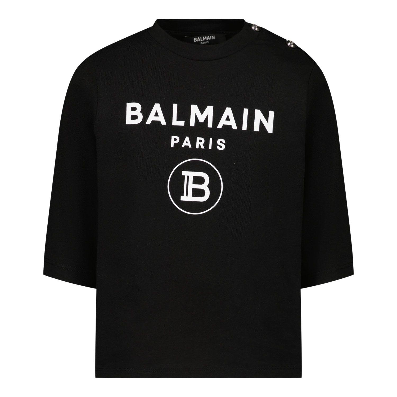 Bild von Balmain 6O8A20 Baby-T-Shirt Schwarz