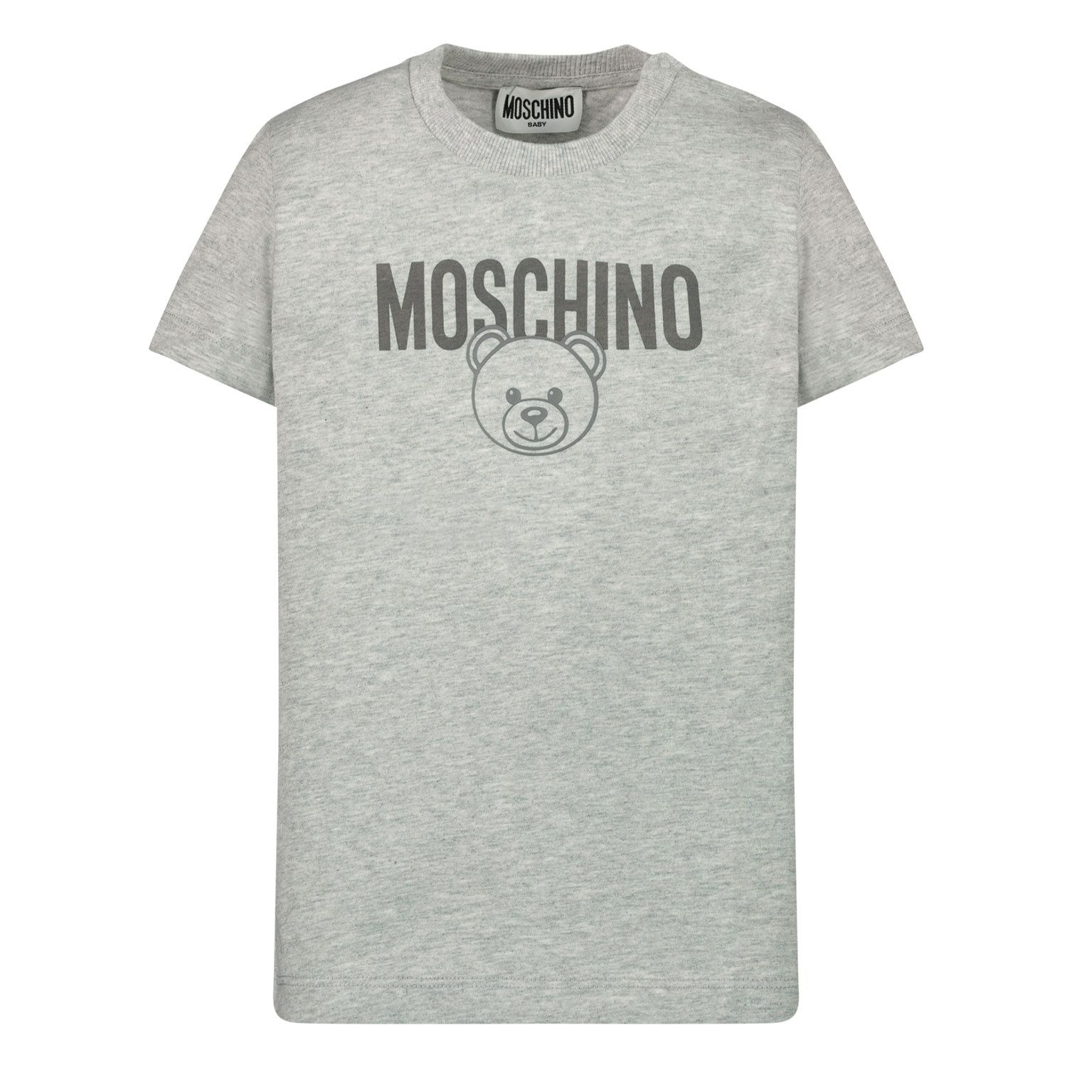 Picture of Moschino MZM02A baby shirt grey