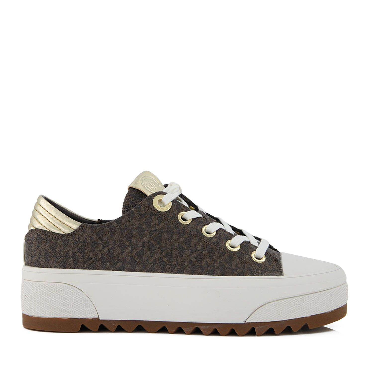 Picture of Michael Kors 43R0KEFS1B womens sneakers brown