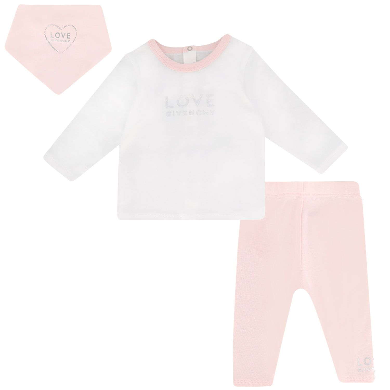 Afbeelding van Givenchy H98097 babysetje licht roze