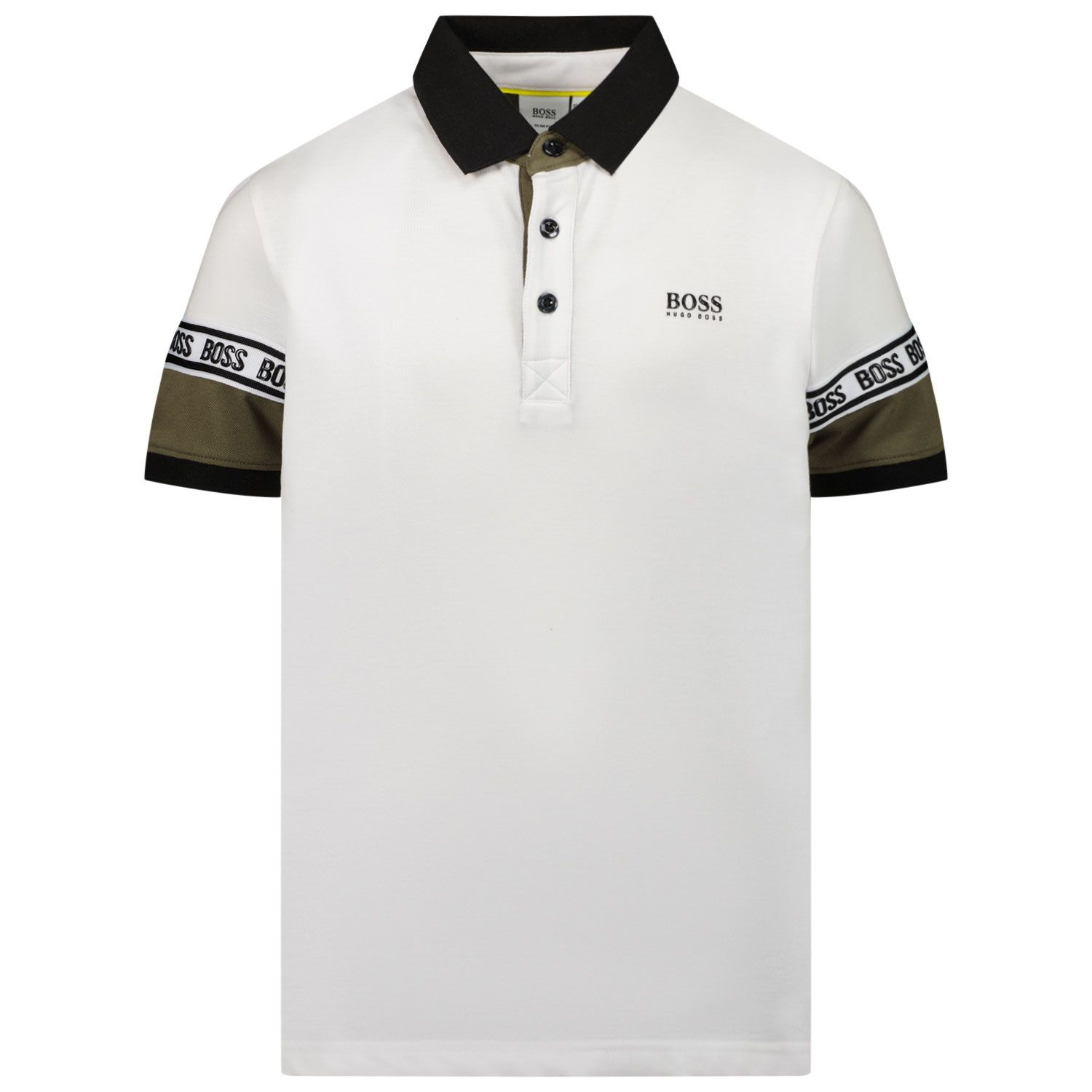 Picture of Boss J25L23 kids polo shirt white