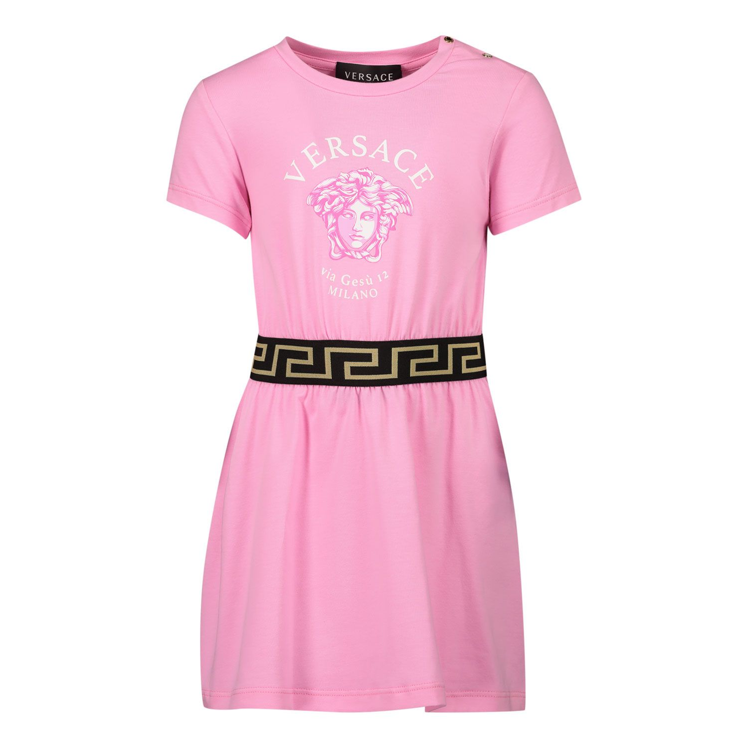 Picture of Versace 1000355 baby dress pink
