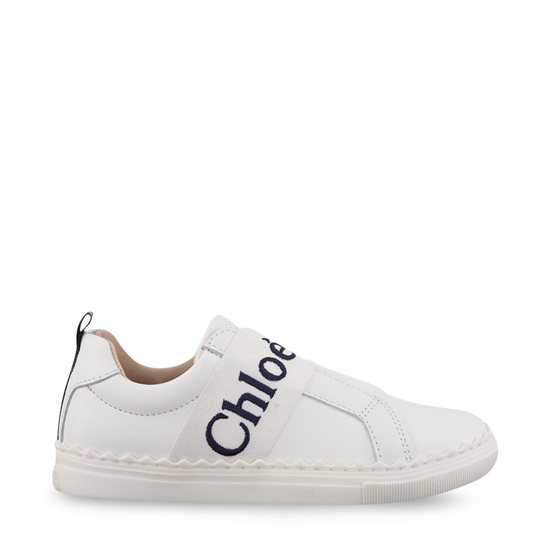 Afbeelding van Chloé C19131 kindersneakers off white