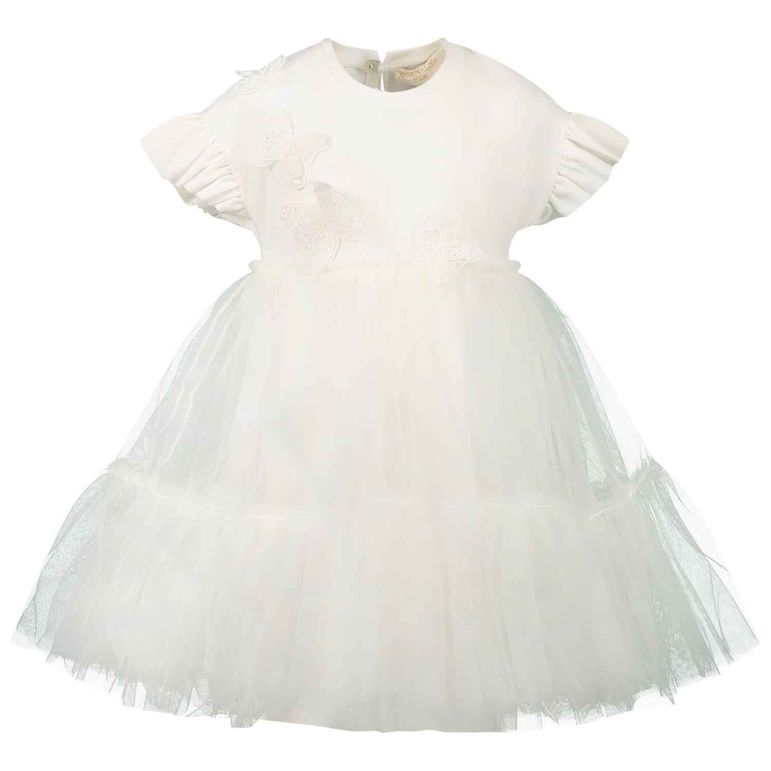 Picture of MonnaLisa 737900F2 baby dress off white