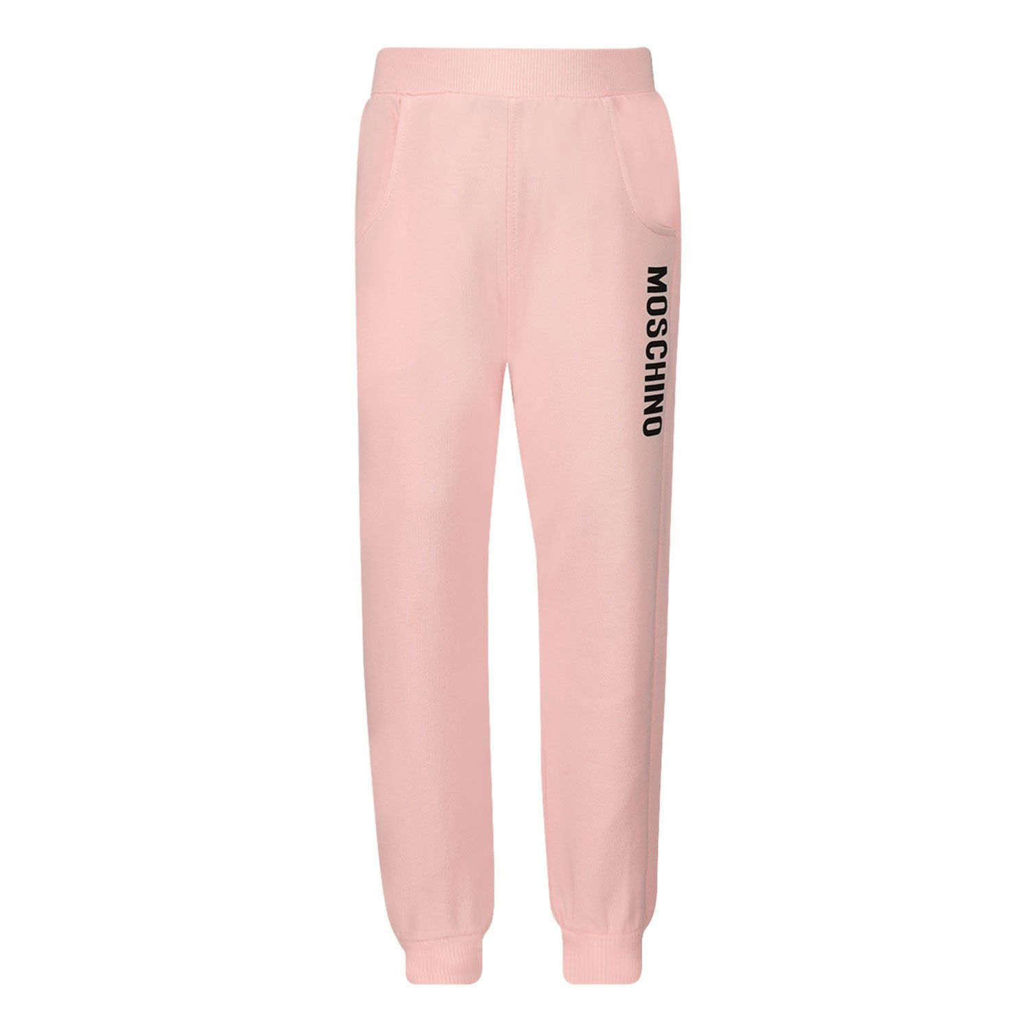 Picture of Moschino MRP023 baby pants light pink