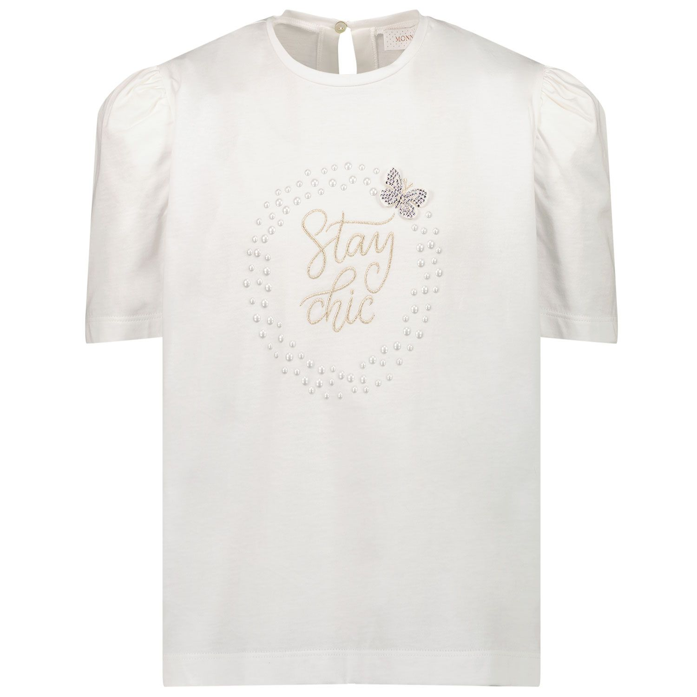 Picture of MonnaLisa 798603SN kids t-shirt off white