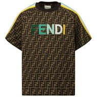 Afbeelding van Fendi JUI015 ACZS kinder t-shirt bruin