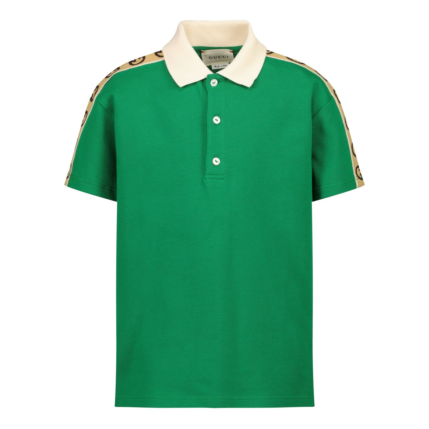 Picture of Gucci 616949 baby poloshirt green