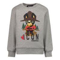 Picture of Dsquared2 DQ0615 baby sweater grey