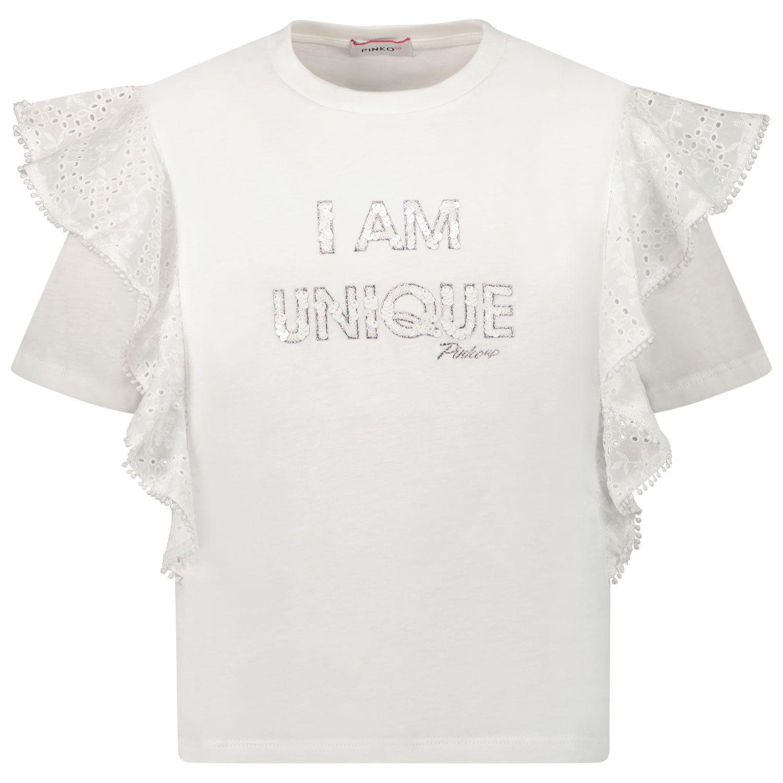 Picture of Pinko 027582 kids t-shirt white