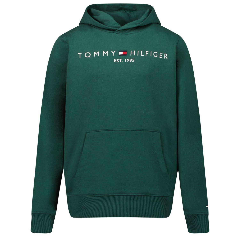 Picture of Tommy Hilfiger KS0KS00205 kids sweater dark green
