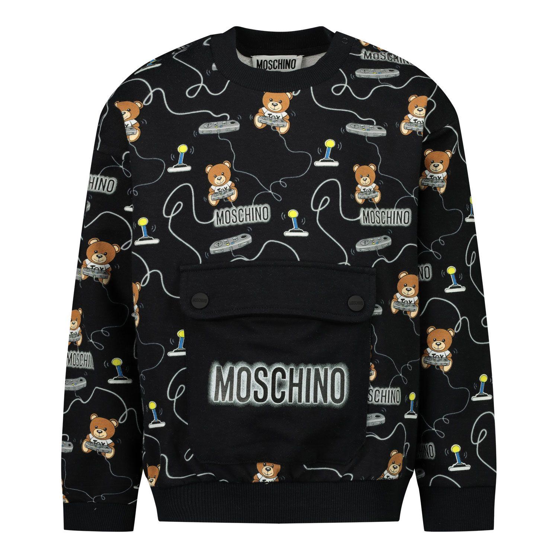 Afbeelding van Moschino MUF03B baby trui zwart