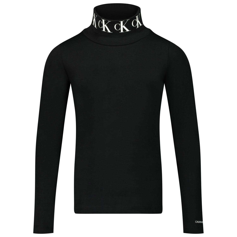 Afbeelding van Calvin Klein IG0IG00674 kinder t-shirt zwart