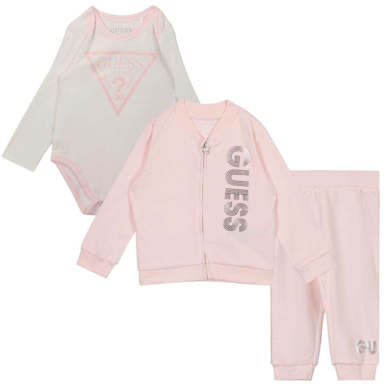 Afbeelding van Guess H1YW05 baby joggingpak licht roze