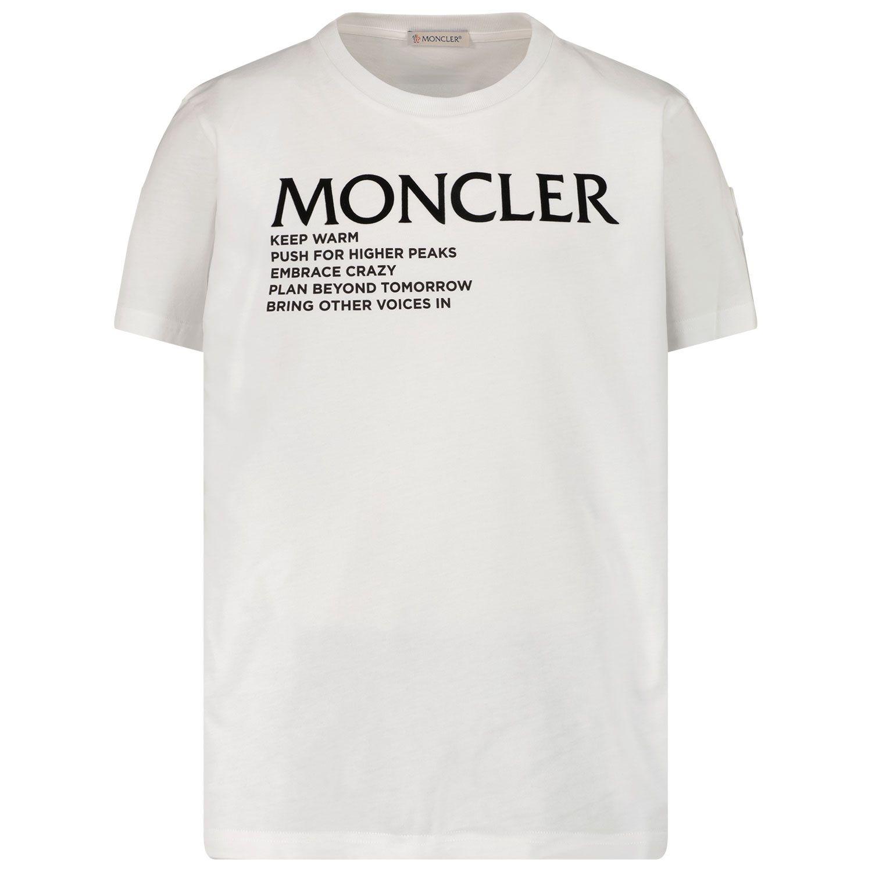 Bild von Moncler 8C77300 Kindershirt Weiß