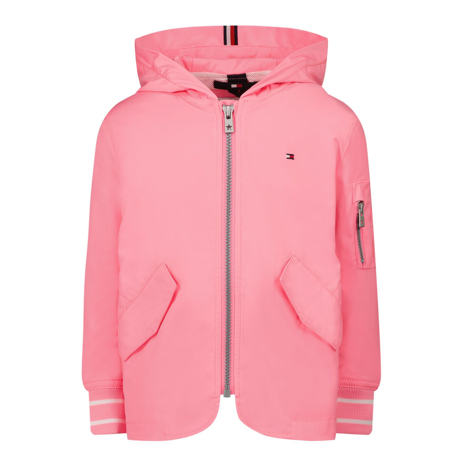 Picture of Tommy Hilfiger KG0KG05757 B baby coat fluoro pink