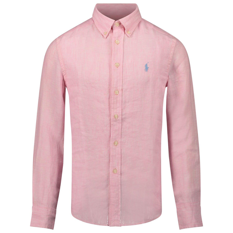 Afbeelding van Ralph Lauren 832109 kinder overhemd roze