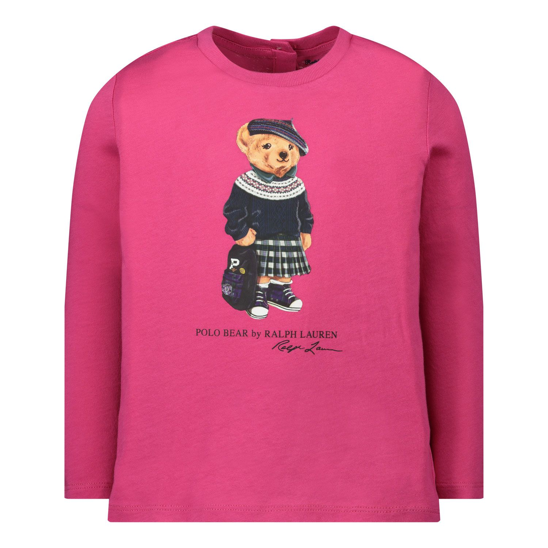 Picture of Ralph Lauren 310809577 baby shirt fuchsia