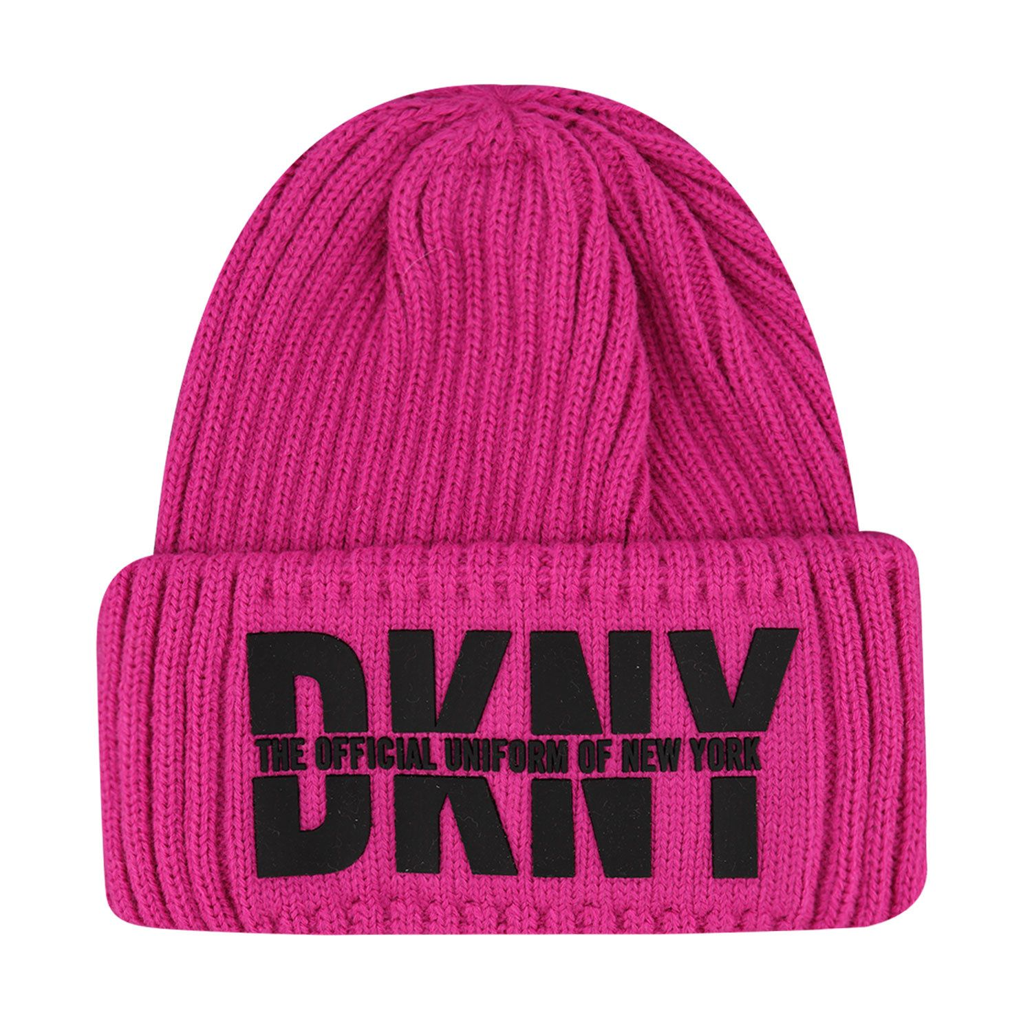 Picture of DKNY D31262 kids hat fluoro pink