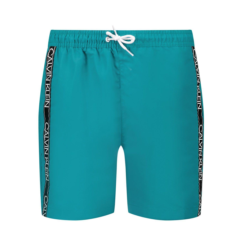 Afbeelding van Calvin Klein B70B700301 kinder zwemkleding donker groen