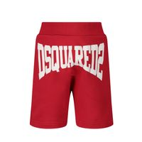 Picture of Dsquared2 DQ0226 baby shorts red