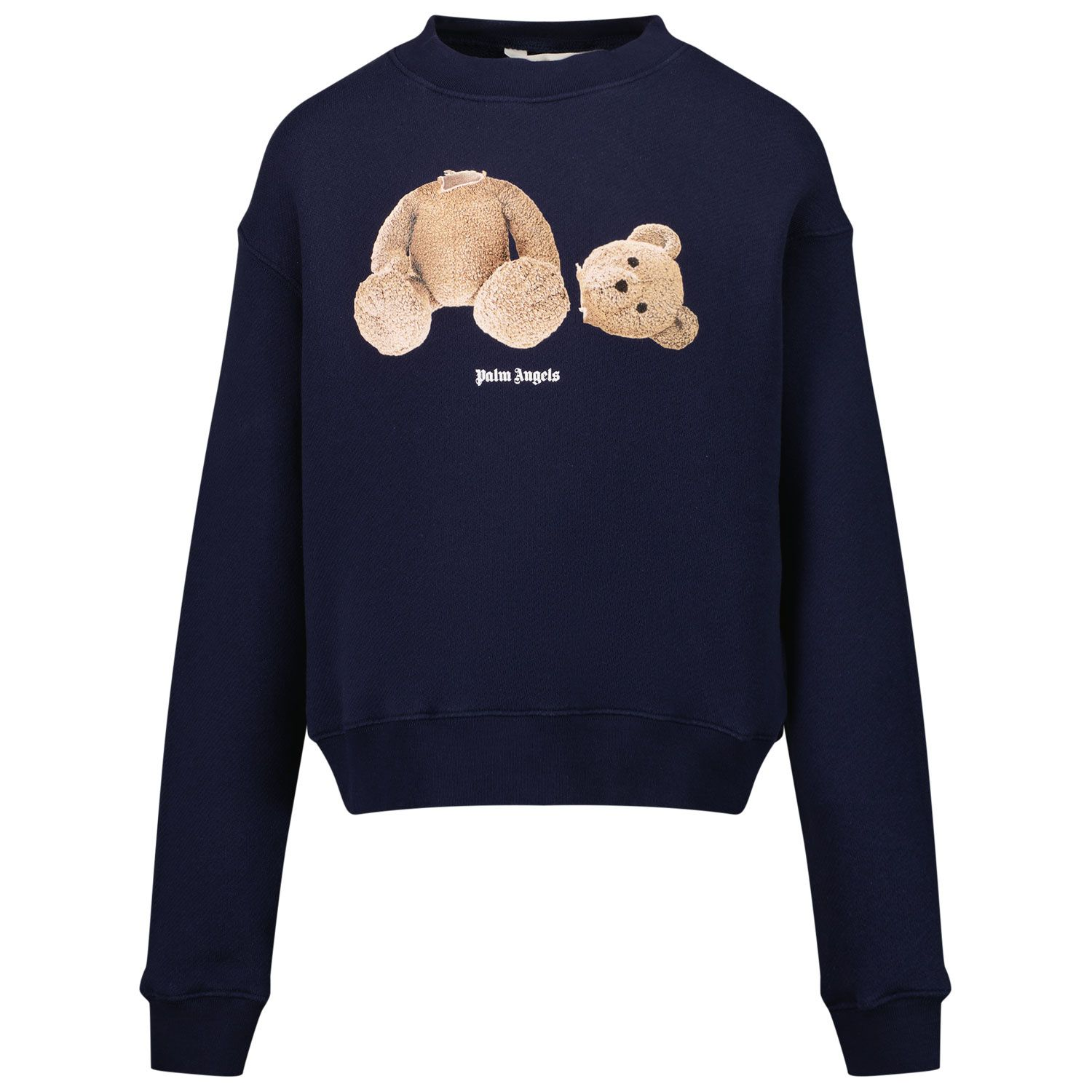 Picture of Palm Angels PBBA001F21FLE001 kids sweater navy