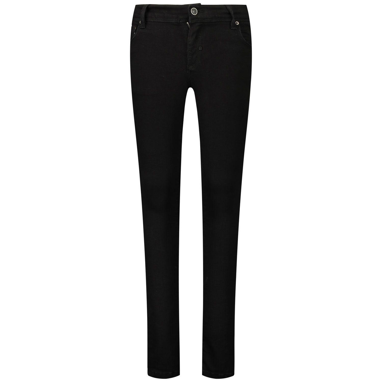 Picture of Antony Morato MKDT00056 FA750276 kids jeans black