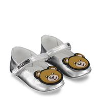 Picture of Moschino 67337 baby sneakers silver