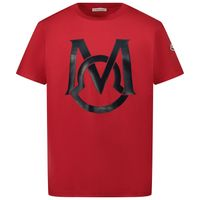 Picture of Moncler 8C74220 kids t-shirt red