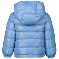Picture of Moncler 4183605 baby coat light blue