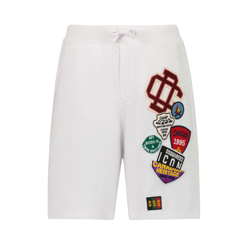 Afbeelding van Dsquared2 DQ0333 kinder shorts wit