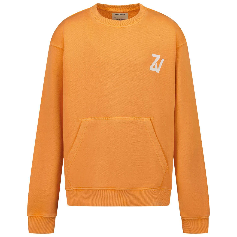 Picture of Zadig & Voltaire X25249 kids sweater orange
