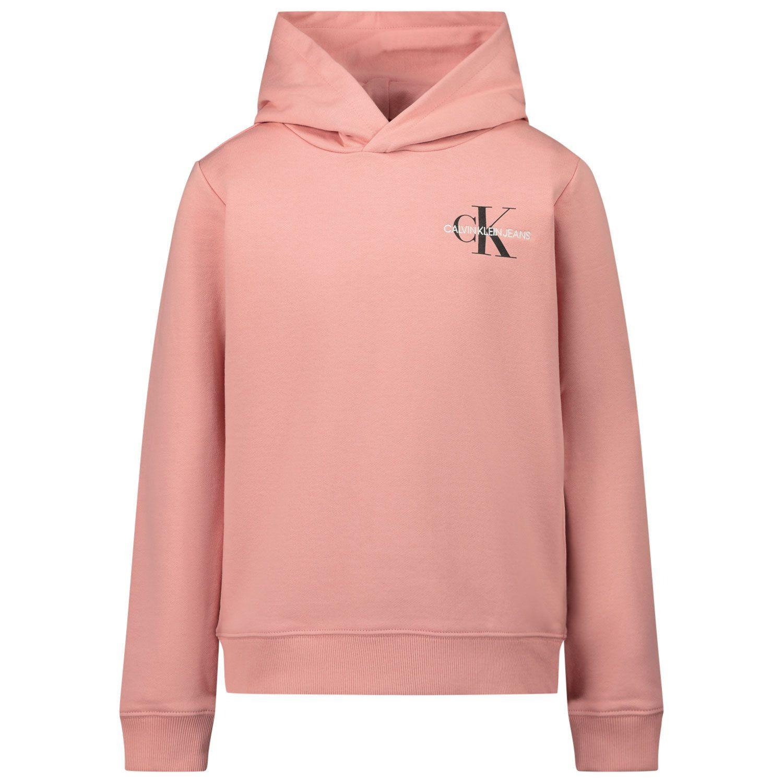 Afbeelding van Calvin Klein IU0IU00164 kindertrui licht roze