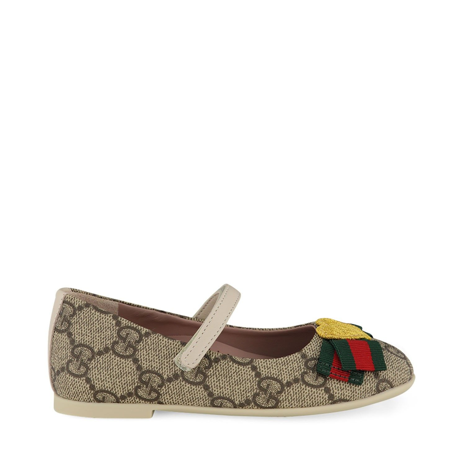 Picture of Gucci 418997 kids shoes beige