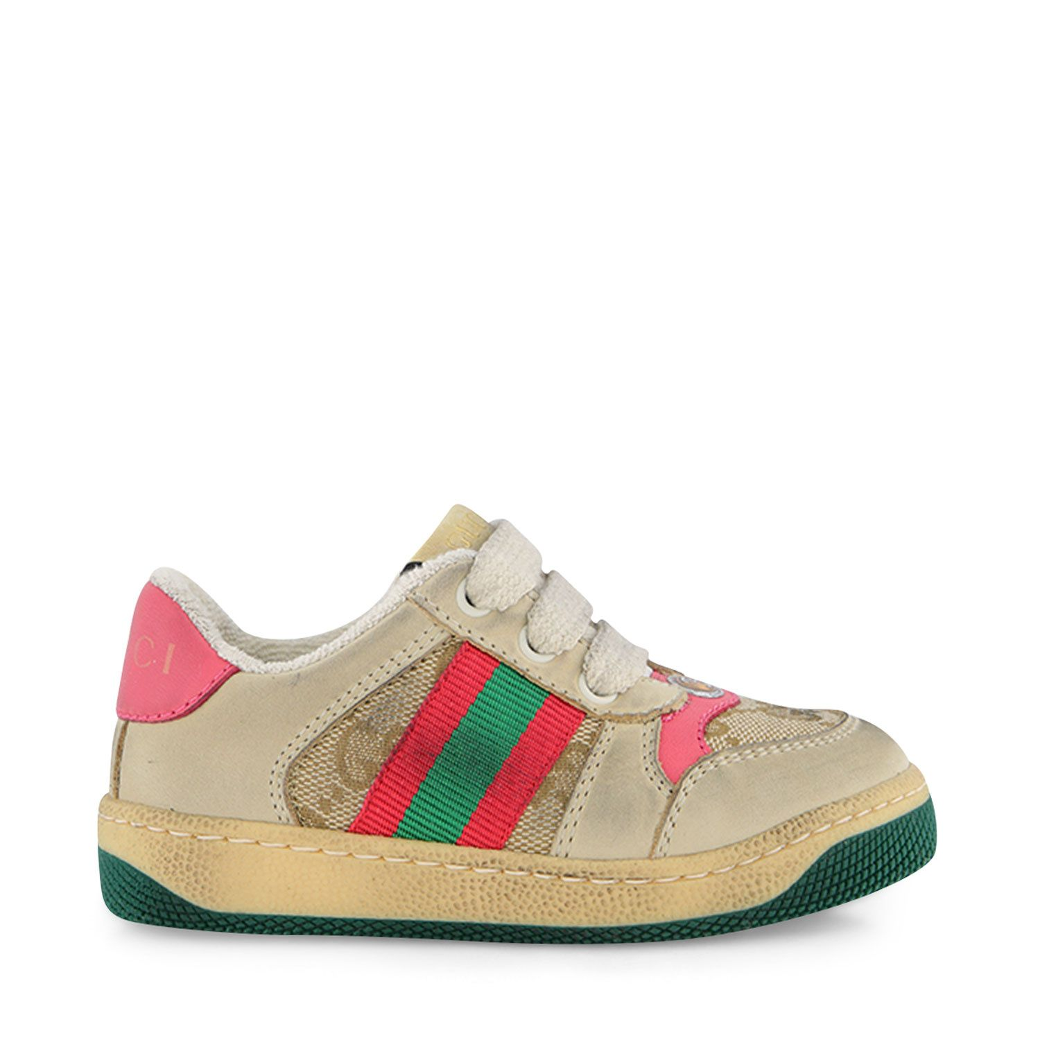 Picture of Gucci 626625 kids sneakers pink