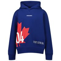 Picture of Dsquared2 DQ0299 kids sweater cobalt blue