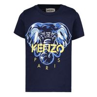 Picture of Kenzo K05047 baby shirt navy
