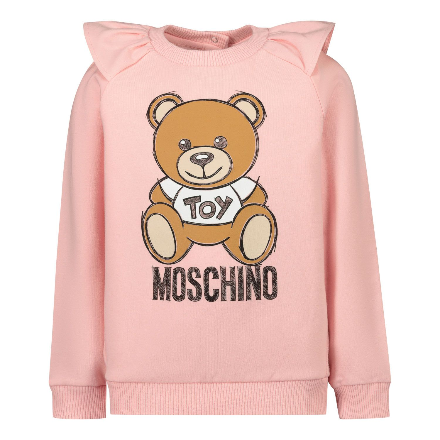Picture of Moschino MAF01K baby sweater light pink