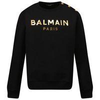 Picture of Balmain 6P4110 kids sweater black