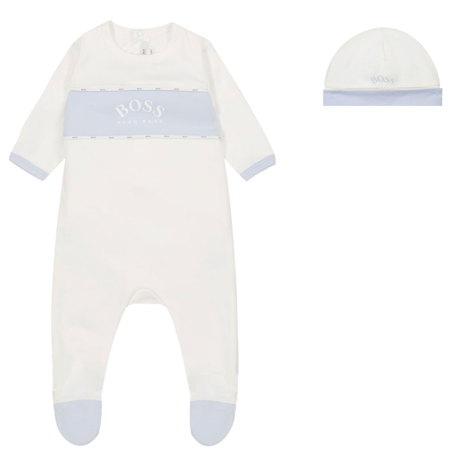 Picture of Boss J98309 baby playsuit white